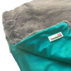 Doodlebone Luxusní měkká deka Blue-Green