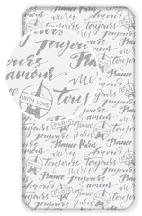 Jerry Fabrics Bavlněné prostěradlo Paris Good Idea