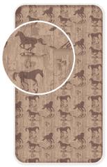 Jerry Fabrics Bavlněné prostěradlo Kůň Western