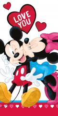 Jerry Fabrics Osuška Mickey and Minnie Love you