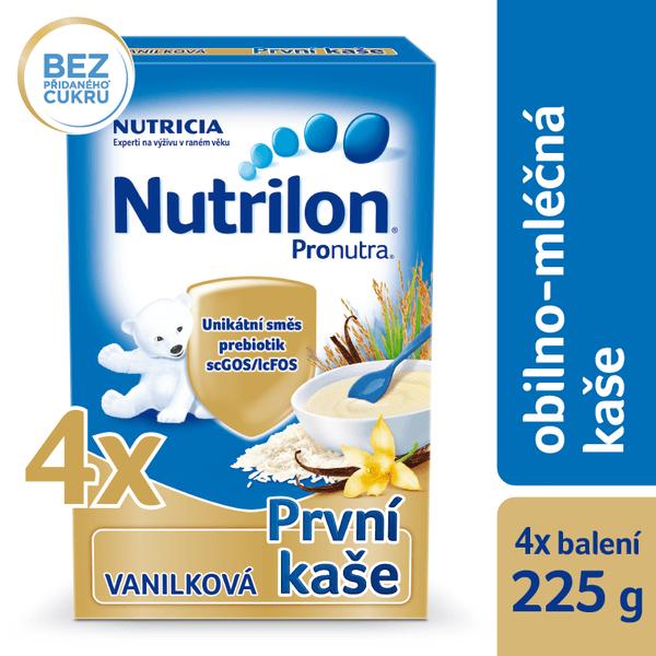 Nutrilon Mléčná kaše vanilková - 4 x 225g