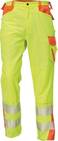 Červa Reflexné pracovné nohavice Latton žltá/oranžová 46