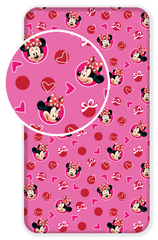 Jerry Fabrics Bavlněné prostěradlo Minnie hearts 02