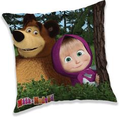 Jerry Fabrics Polštářek Máša a medvěd in forest