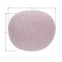 2 -  Pletený taburet, púdrová ružová,, GOBI TYP 2