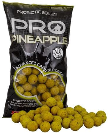 Starbaits Boilie Probiotic Pineapple 1 kg, 20 mm