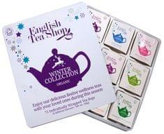 English Tea Shop Dárková plechová kazeta Bílá - Vánoční zima BIO 72 sáčků/9 příchutí