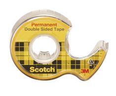 Scotch Lepicí páska oboustranná  12 mm x 6,3 m čirá s odvíječem