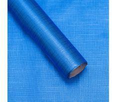 Giftisimo Luxusní strukturovaný balicí papír, modrý, vzor křížky, 5 archů