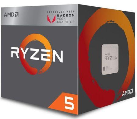 AMD procesor Ryzen 5 2400G s hladilnikom Wraith Stealth 65W (YD2400C5FBBOX)
