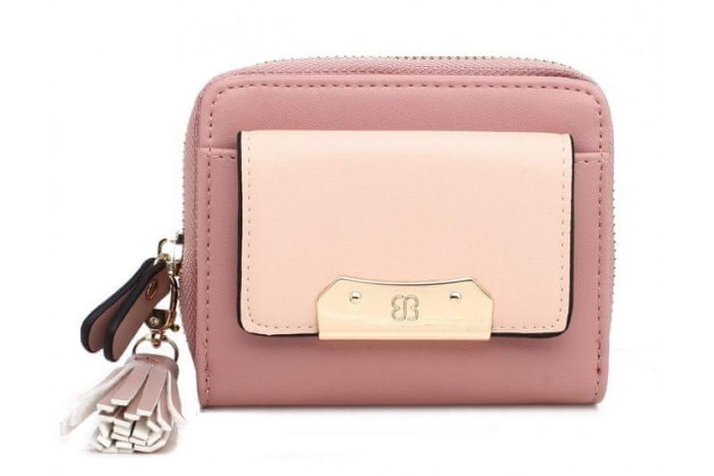Bessie London dámská růžová peněženka