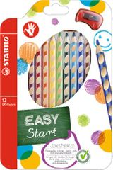 Pastelky EASYcolors pro praváky 12 ks + ořezávátko