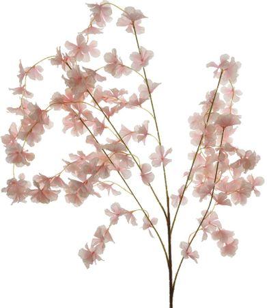 Kaemingk Vetva s ružovými kvetmi 120 cm