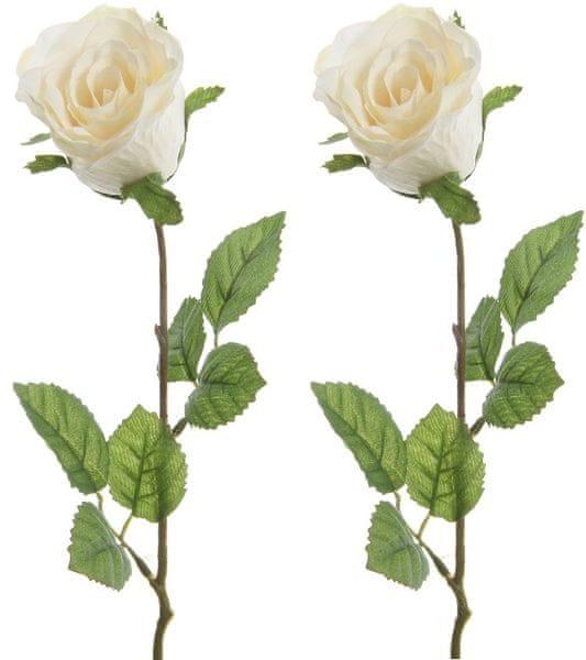 Kaemingk Růže bílá 45 cm, 2 ks