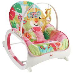 Fisher-Price fotel dziecięcy z tygrysem, różowy