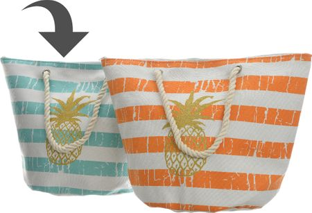 Kaemingk Plážová taška s ananásom, modrá
