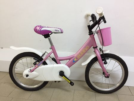 Frejus dekliško kolo s košaro, 16'', roza