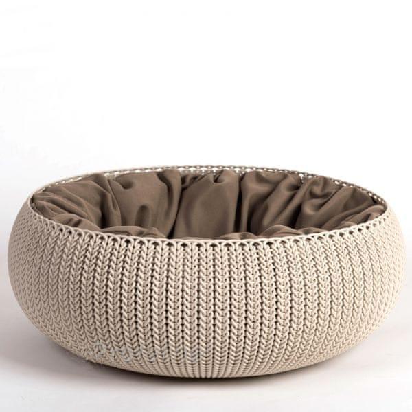 Curver Knit pelíšek šedý