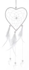 Kaemingk Lapač snů srdce 26 cm, bílá