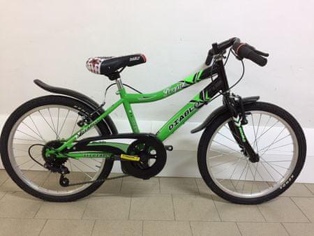 Frejus deško kolo s šestimi prestavami, 20'', črno-zeleno