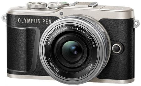 Olympus digitalni brezzrcalni fotoaparat E-PL9 + 14-42 EZ, črm