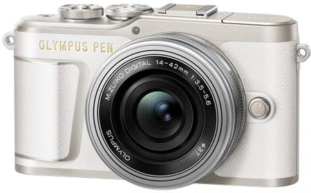 Olympus digitalni brezzrcalni fotoaparat E-PL9 + 14-42 EZ, bel