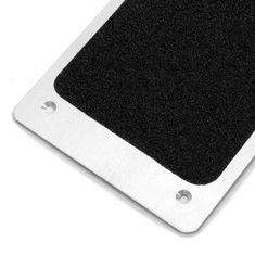Černý hliníkový protiskluzový nášlap na schody - 62,5 x 11,4 cm