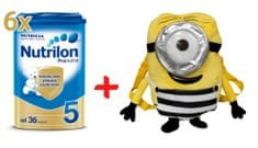 Nutrilon 5 Pronutra - 6 x 800g + Batoh Mimoň