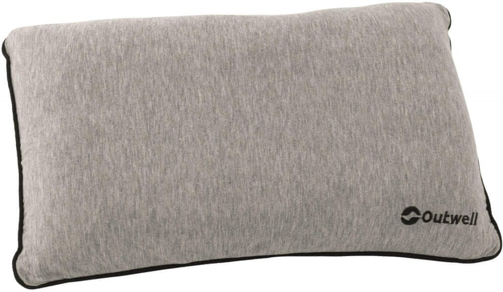 Outwell Polštář Memory Pillow Grey