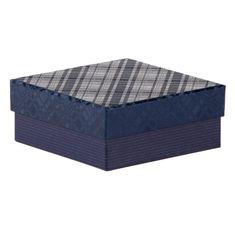 Dárková krabice Karla 3, tmavě modrá - 12x12x5cm