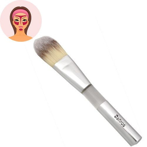 Sefiros Rovný štětec na make-up Silver (Foundation Brush Flat)