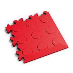 Fortelock Červený plastový vinylový rohový nájezd 2046 (penízky) - 14 x 14 x 0,7 cm