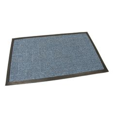 FLOMAT Modrá textilní vstupní rohož Crossing - 75 x 45 x 0,8 cm