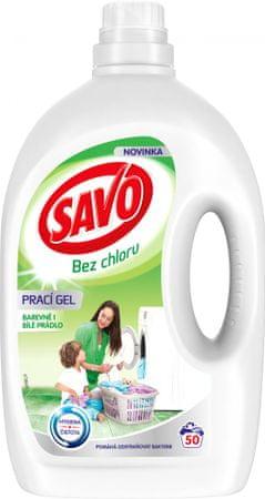 Savo Prací gel na bílé a barevné prádlo 2,5 l (50 praní)