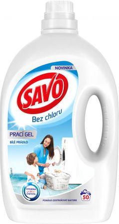 Savo Prací gel na bílé prádlo 2,5 l (50 praní)