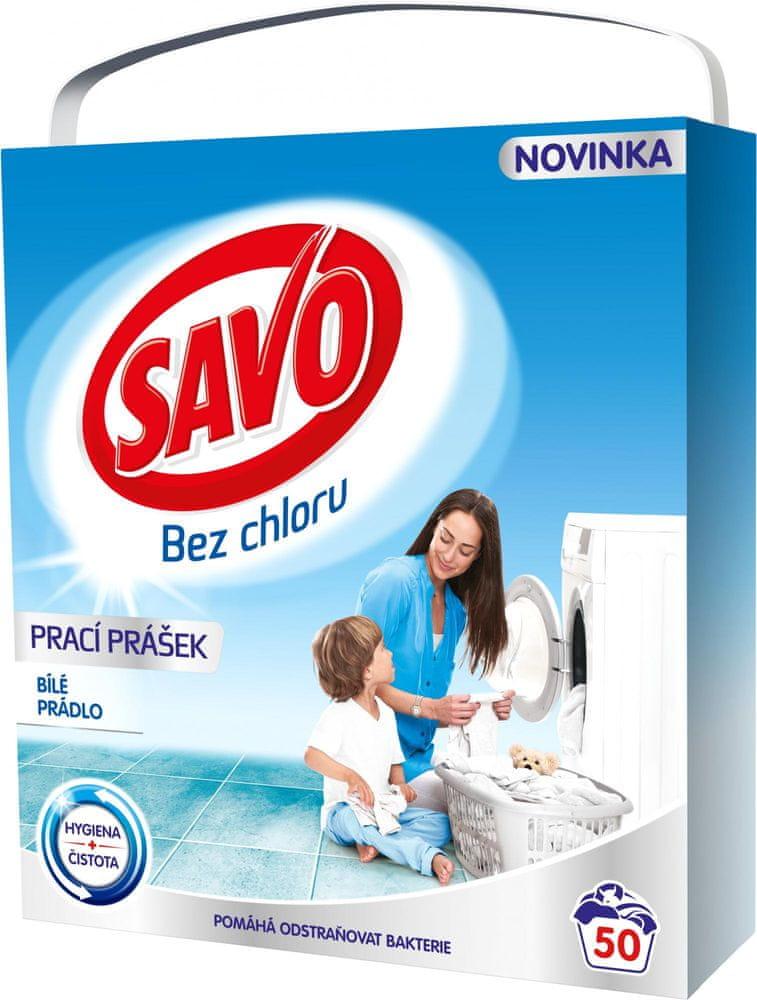 Savo Prací prášek na bílé prádlo 3,5 kg (50 praní)
