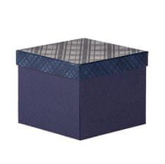 Dárková krabice Zina 7, tmavě modrá - 20x20x15cm