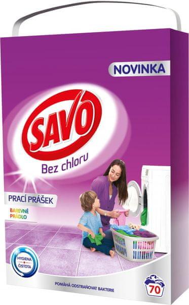 Savo Prací prášek na barevné prádlo 5 kg (70 praní)