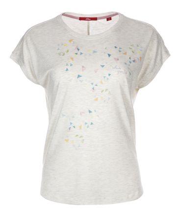 68dd70b422e2 s.Oliver dámské tričko 34 smetanová - Recenzie