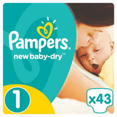 Pampers Plenky New Baby 1 Newborn - 43 ks