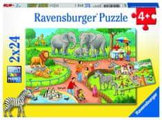Ravensburger Den v zoo 2x24 dílků