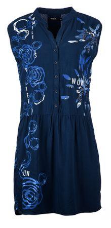 Desigual ženska obleka 36 temno modra