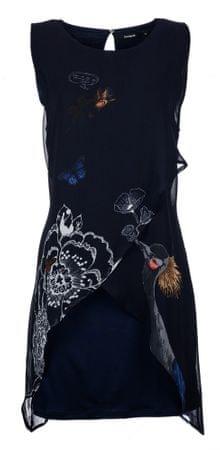 Desigual dámské šaty 36 tmavo modrá