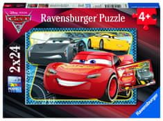 Ravensburger sestavljanka Disney Cars: Avantura s Strelo McQueen, 2 x 24 delov