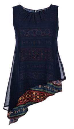 Desigual top damski XL ciemny niebieski
