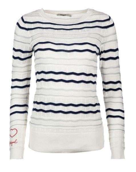 Desigual dámský svetr XS bílá