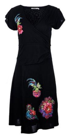 Desigual dámské šaty L čierna