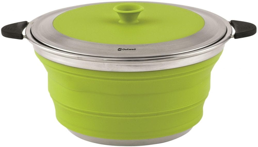 Outwell Collaps Pot with Lid L Lime Green