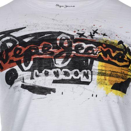 Pepe Jeans férfi póló Amersham XXL fehér  1f0a70104c