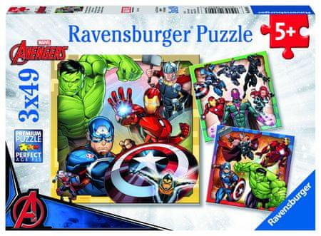 Ravensburger Disney puzzle Marvel Avengers 3x49 elementów